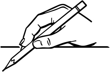 Hand Holding Pencil 2 Vector