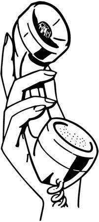 telefon: Hand Holding Telefon Ilustracja