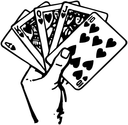 Hand Of Cards Vector