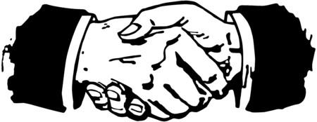 manos estrechadas: Apret�n de manos Vectores