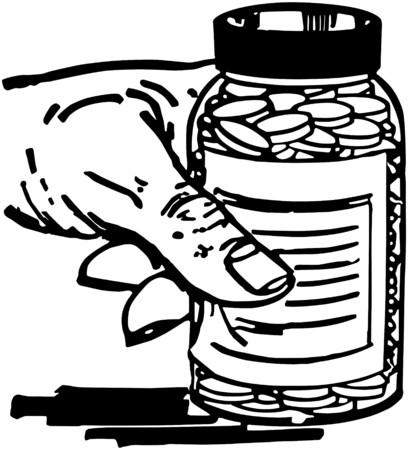 pill bottle: Hand With Pill Bottle