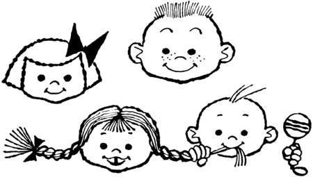 rattles: Happy Children Illustration