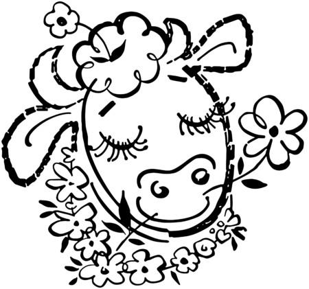 happy: Happy Cow Illustration