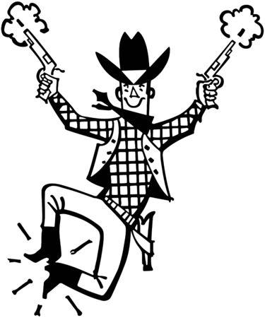 happy: Happy Cowboy Illustration