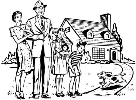 Happy Family Illustration