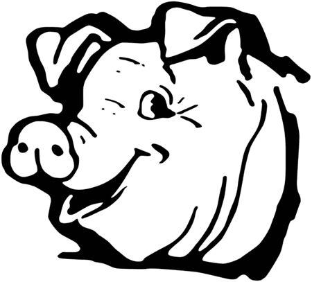 Happy Hog Vector