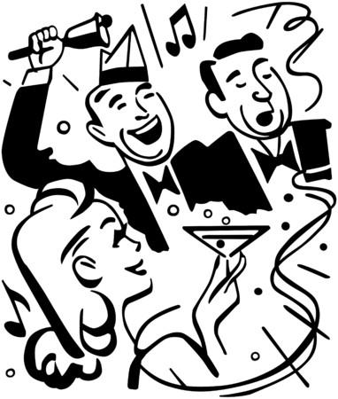singing bells: Happy New Year Illustration
