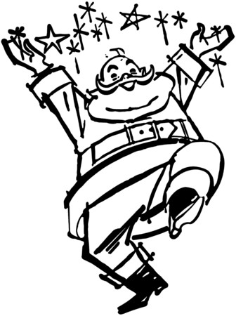 joyous: Happy Santa