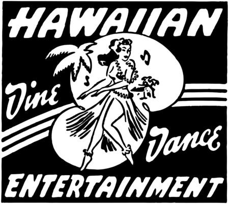 hula: Hawaiian Entertainment Illustration