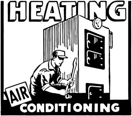 Heating Air Conditioning Ilustrace