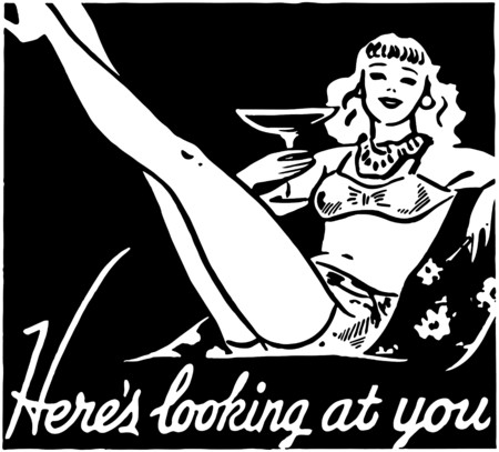 lounging: Heres Looking At You Illustration