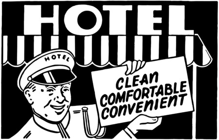 awnings: Hotel Clean Comfortable 2 Illustration