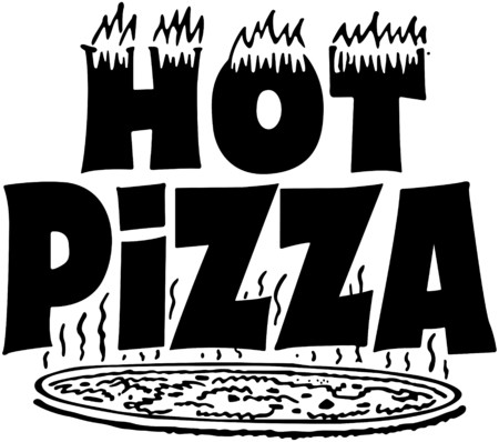 Hot Pizza Banner Vector