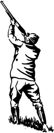 hombre disparando: Cazador