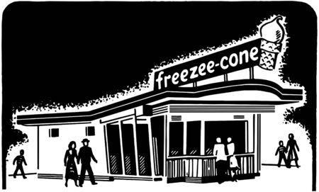 Ice Cream Shop Vector