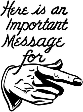 Important Message Illusztráció