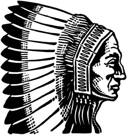 capo indiano: Indian Chief 2 Vettoriali