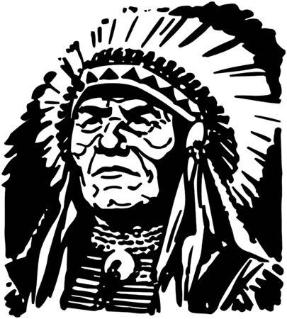 Indian Head Ilustracja