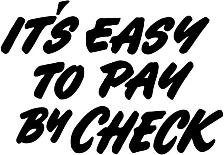 headings: Its Easy To Pay By Check Illustration