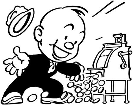 wealthy man: Jackpot! Illustration