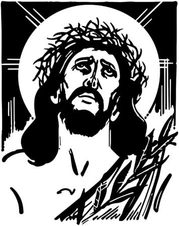 man praying: Jesus With Crown Of Thorns