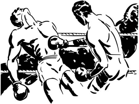 40s: Knockout Punch Illustration