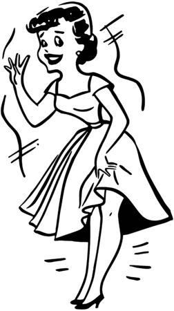 Lady In Distress Illustration