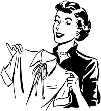 ama de casa: Señora con la blusa