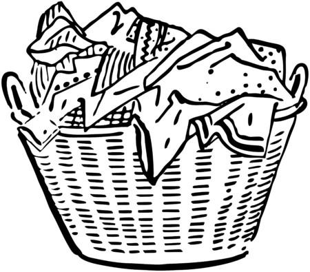 Laundry Basket Illustration
