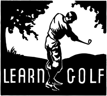 Learn Golf Vector