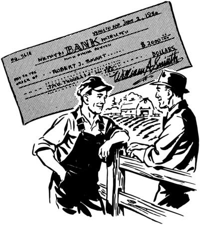 wealthy man: Lets Talk Over Your Worries Illustration