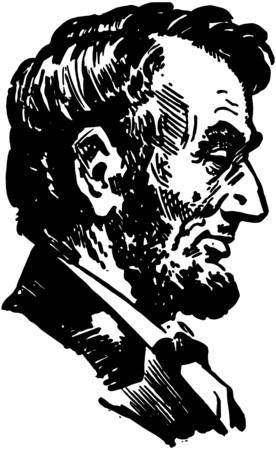 リンカーンの頭  イラスト・ベクター素材
