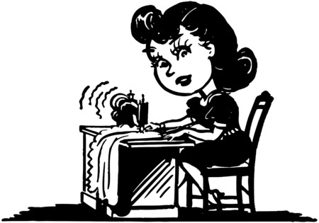Little Seamstress Illustration