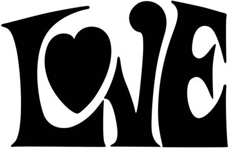 vector hearts: Love Banner Illustration