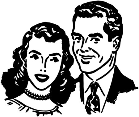 lovely couple: Lovely Couple Illustration