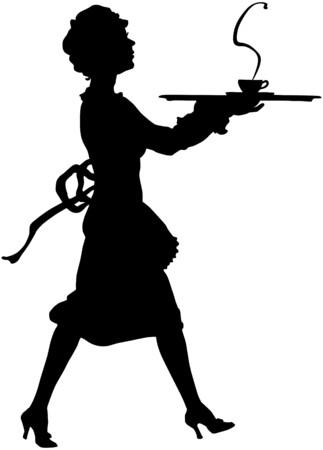 Maid Silhouette Stock Illustratie
