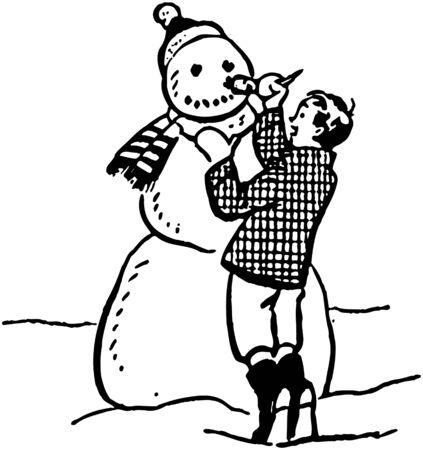 Making A Snowman Vector