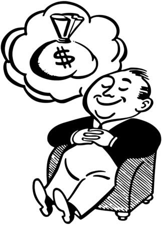 Man Dreaming Of Money