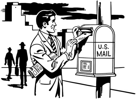 mailing: Man Mailing A Letter