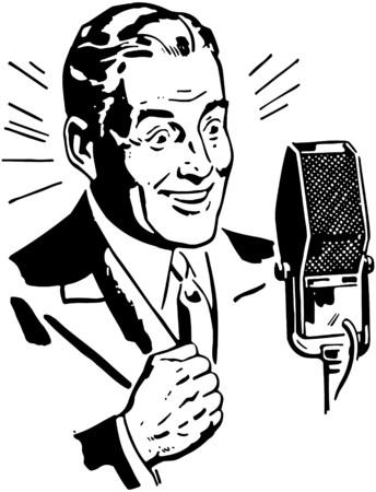 Radio Omroeper 2 Stock Illustratie