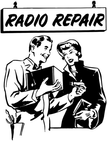 retro radio: Radio Repair 2