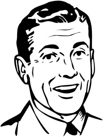 Retro Papa Stock Illustratie