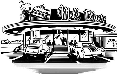 retro woman: Retro Diner