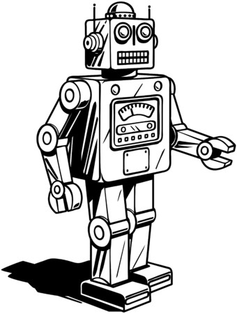 Retro Robot Vector