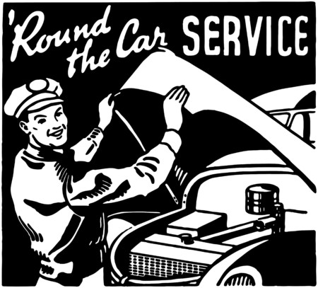 Round The Car Service 3 Vector