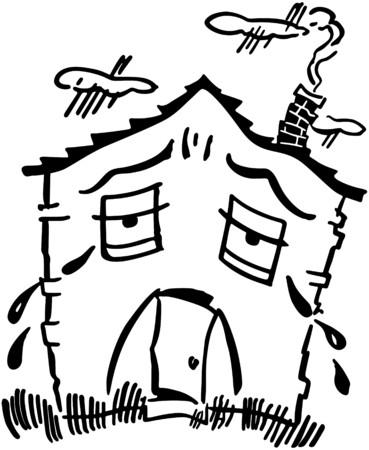 Sad House 向量圖像