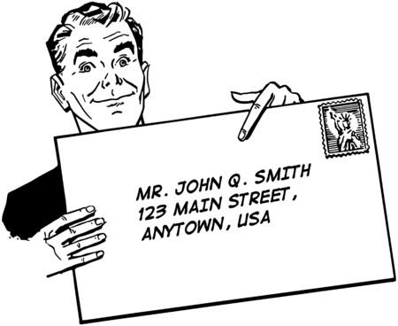 Man With Banner Illustration