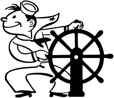seaman: Sailor At Helm