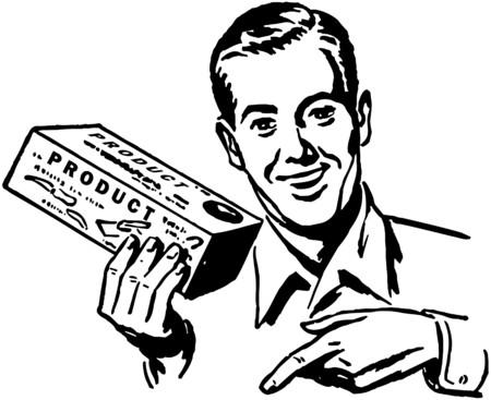 Salesman Stock Illustratie