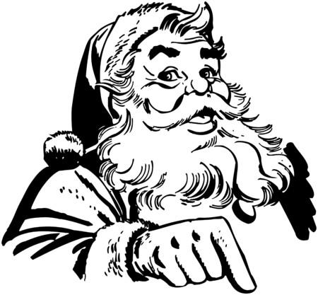 산타 클로스를 가리키는